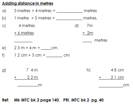 adding in metres