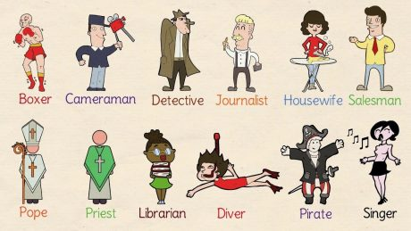 An image showing different occupations