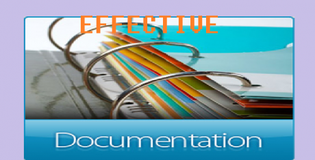 ED: EFFECTIVE DOCUMENTATION 13