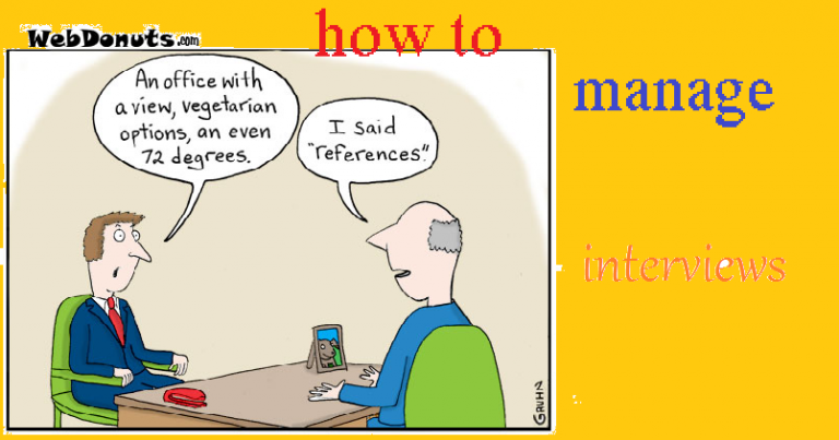 HOW TO MANAGE AN INTERVIEW 2