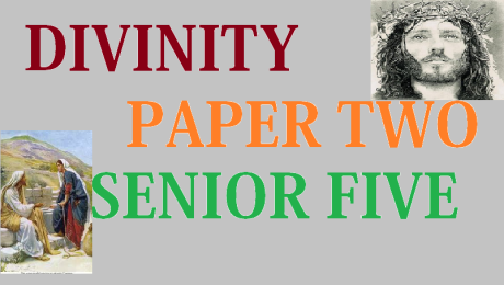 DIVINITY PAPER TWO (2) SENIOR FIVE 10