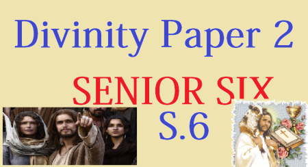 DIVINITY PAPER TWO (2) SENIOR SIX 2