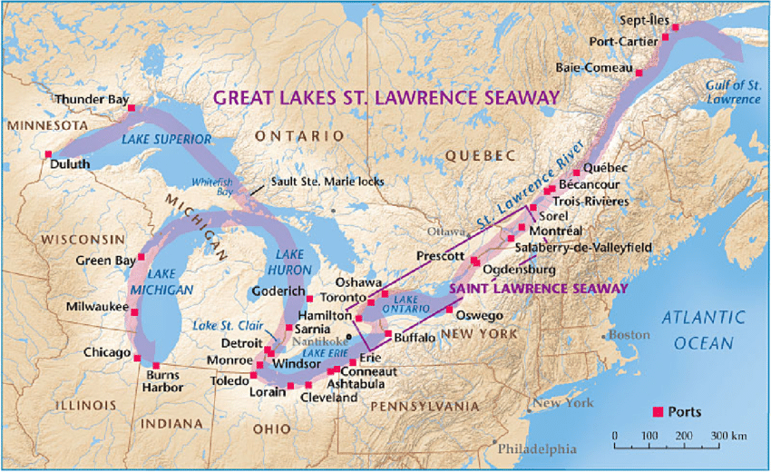 GREAT LAKES REGION AND THE ST. LAWRENCE SEA WAY - GEOGRAPHY SENIOR TWO