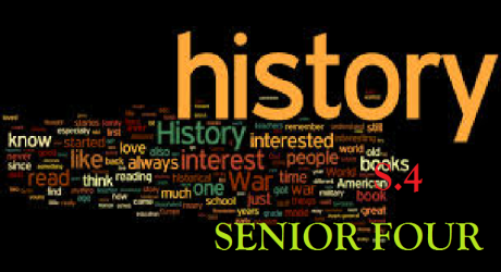 HISTORY EAST AFRICA SENIOR FOUR (S.4) 12