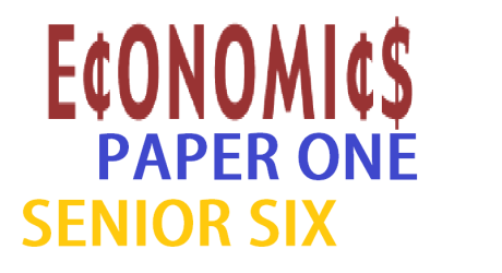 ECONOMICS PAPER ONE SENIOR SIX 14