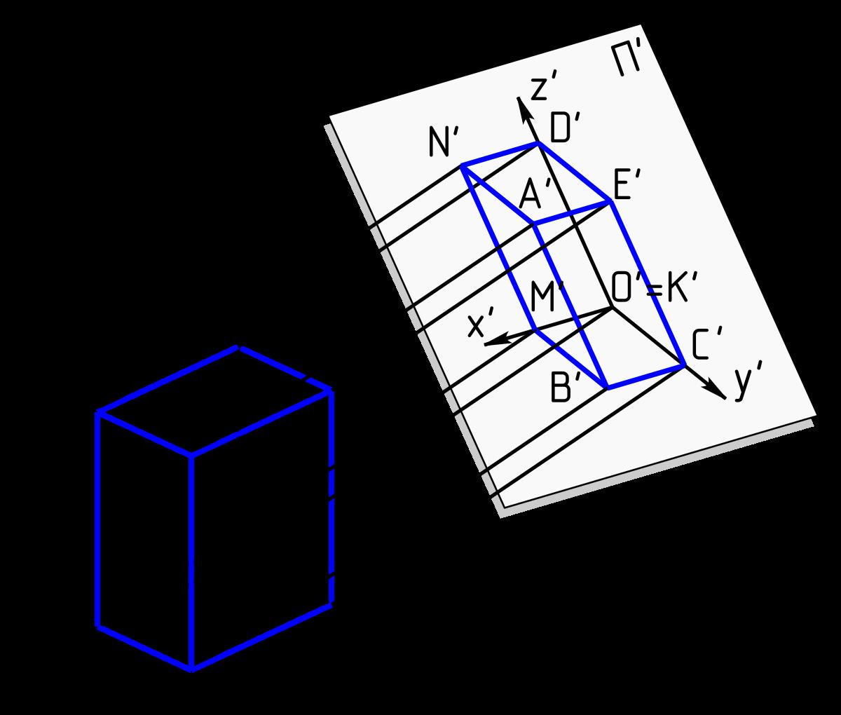 Mathematics - THREE DIMENSIONAL GEOMETRY PROJECTION