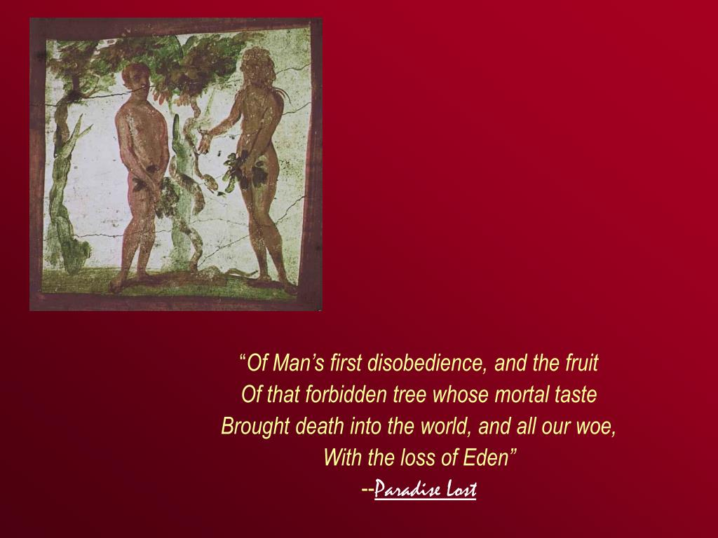 disobedience of man