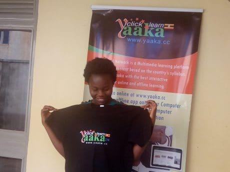 Betty Nakabugo wins a Yaaka Digital Network Tablet Computer 3