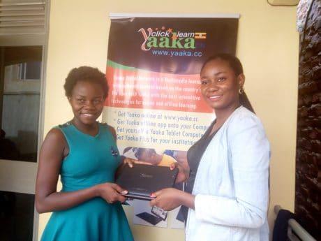 Betty Nakabugo wins a Yaaka Digital Network Tablet Computer 1