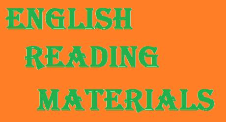 ENGLISH READING MATERIALS 7