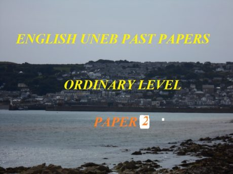 UGANDA CERTIFICATE OF EDUCATION ENGLISH LANGUAGE PAST PAPERS PAPER 2 8