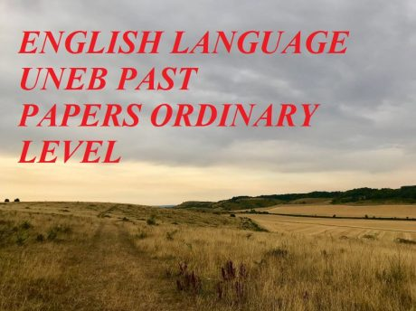 UGANDA CERTIFICATE OF EDUCATION ENGLISH LANGUAGE PAST PAPERS PAPER 1 AND PAPER 2 3