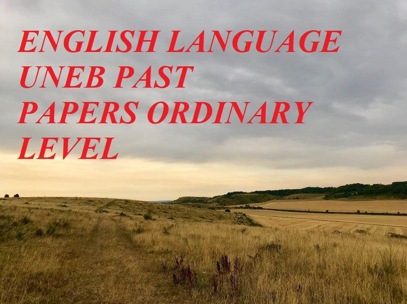 UGANDA CERTIFICATE OF EDUCATION ENGLISH LANGUAGE PAST PAPERS PAPER 1 AND PAPER 2 2