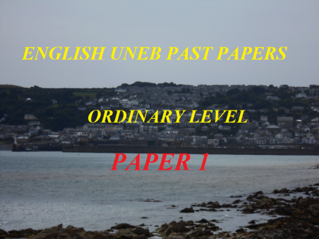 UGANDA CERTIFICATE OF EDUCATION ENGLISH LANGUAGE PAST PAPERS PAPER 1 16