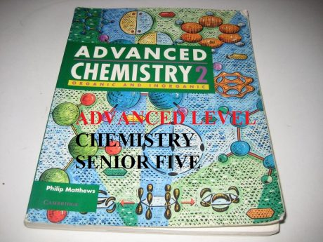 ALCHEM5: ADVANCED LEVEL CHEMISTRY SENIOR FIVE 12