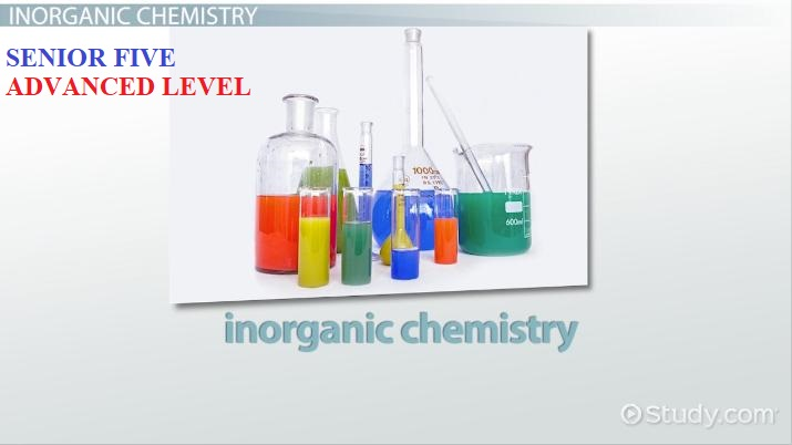 ALINOCHEM5: ADVANCED LEVEL INORGANIC CHEMISTRY SENIOR FIVE 2