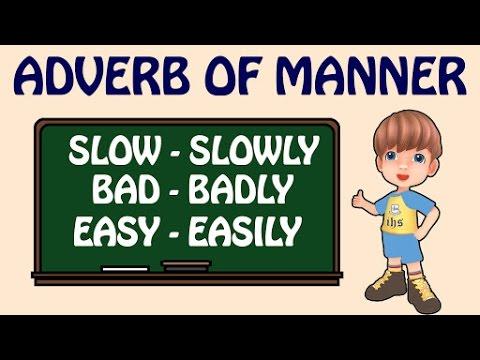 English grammar adverbs of manner