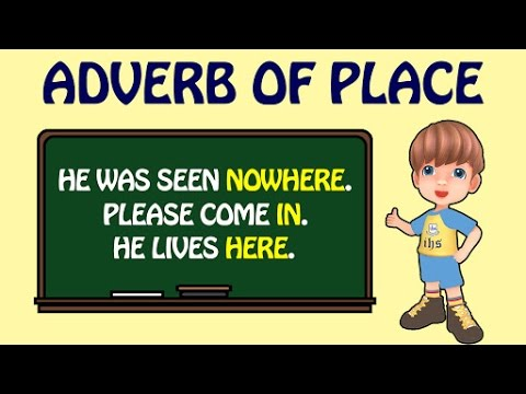 English grammar adverbs of place