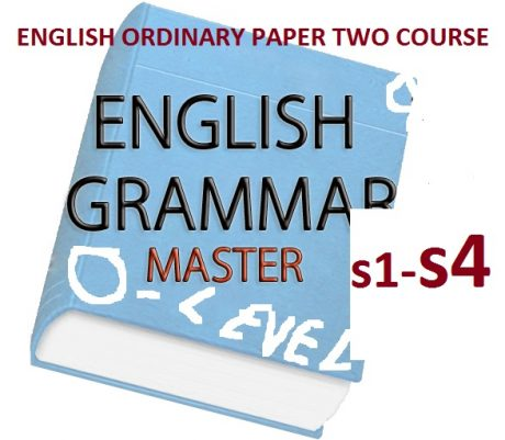 ENGLISH ORDINARY LEVEL PAPER TWO COURSE 1