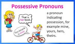 English grammar- possessive pronouns