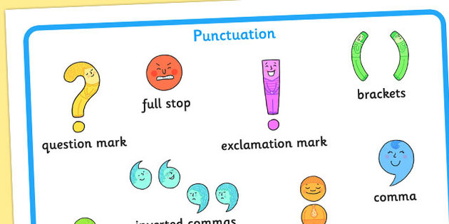 English grammar- punctuation