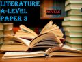 Literature paper three Advanced level