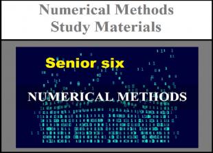 Numerical methods senior six