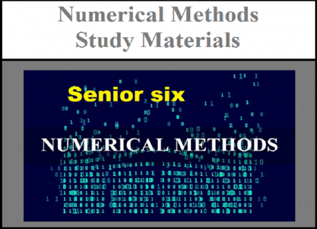 Numerical methods senior six